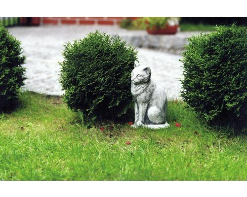 """Gartenfigur """"Katze"""" 35cm, weiss"""