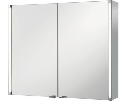 Spiegelschrank basano Silver-Line 80x67x16,5 cm 2-türig grau