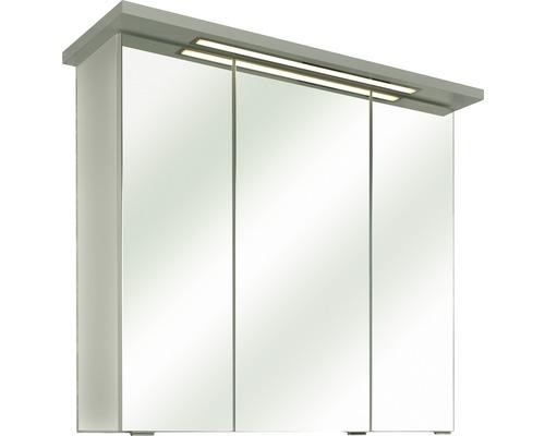 Spiegelschrank Pelipal Vasto 75x72x20 cm 3-türig weiß glanz