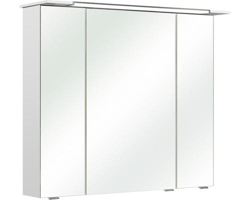Spiegelschrank Pelipal Licasta II 82x71x23,5 cm 3-türig weiß glanz