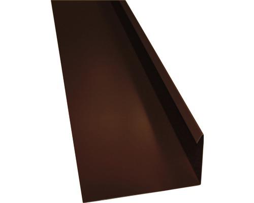 PRECIT Winkelblech mit Wasserfalz chocolate brown RAL 8017 2000 x 80 x 155 mm