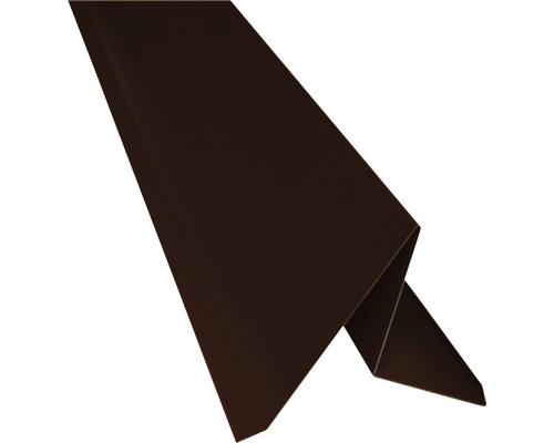 PRECIT Ortblech ohne Wasserfalz chocolate brown RAL 8017 1000 x 105 x 95 mm