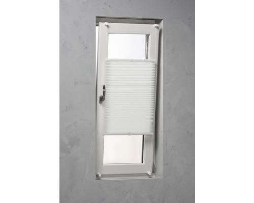 Soluna Plissee-Faltstore mit Seitenverspannung weiß 90x240 cm