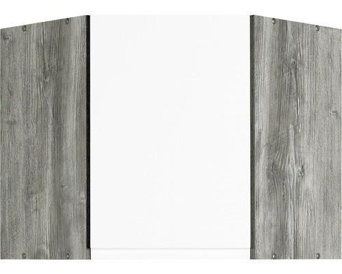 Eck-Hängeschrank Held Möbel Cardiff 60x57x60 cm weiß