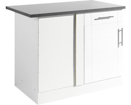 Eck-Unterschrank Held Möbel Nevada 110x85x60 cm weiß hochglanz