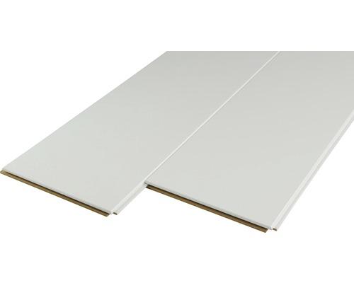Dekorpaneel Quadro Uni weiß 12x200x2000 mm