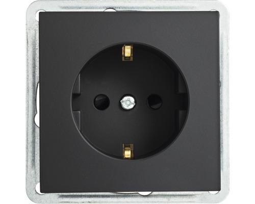 Steckdosen-Einsatz Roth-Lange Primo schwarzgrau