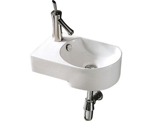 Aufsatz-Waschtisch Sanotechnik 41x27 cm links weiß