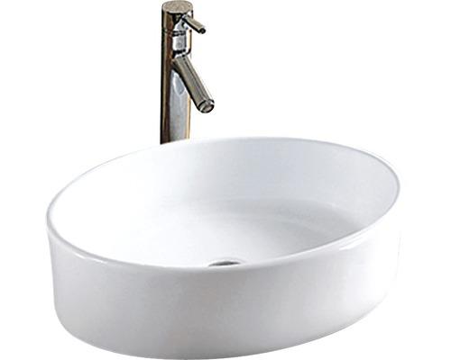 Aufsatz-Waschtisch Sanotechnik 50x36 cm ohne Armaturenbank weiß