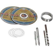 Montageset (62) für Pertura Edelstahlgeländer inkl. 2 Trennscheiben, Ring, 2 Bohrer, 2 Gewindeschneider