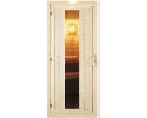 Sauna Türelement Karibu gedämmt für 68 mm Saunen mit Isolierglas 173x64x3,8 cm