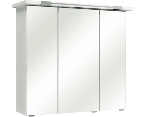Spiegelschrank Pelipal Ferrara 75x72x20 cm 3-türig weiß