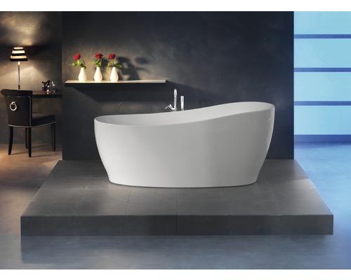Freistehende Badewanne Ottofond Sempre 180x85x44 cm mit Ab- und Überlaufgarnitur