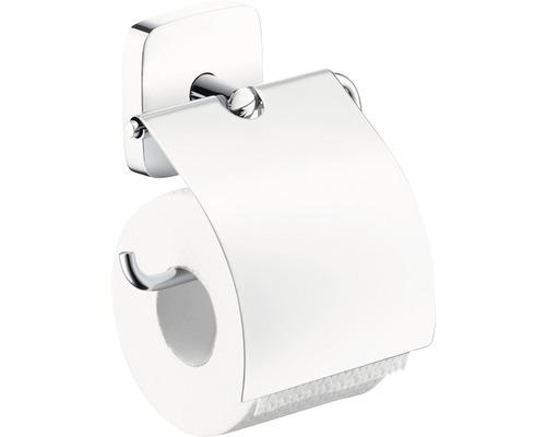 Toilettenpapierhalter hansgrohe PuraVida 41508000 chrom mit Deckel