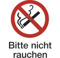 """Verbotsschild """"Bitte nicht Rauchen"""" Kunststoff 194 x 260 mm"""