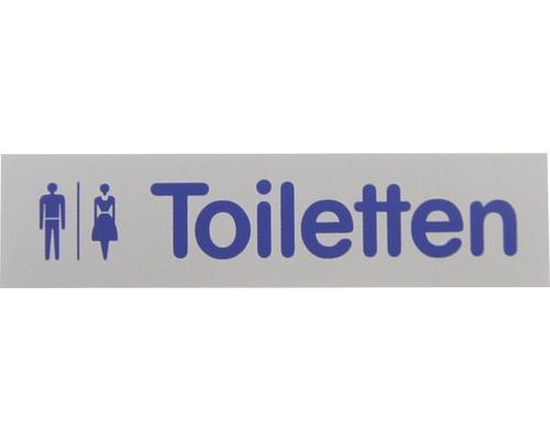 """Hinweisschild """"Toiletten"""" Kunststoff 160 x 40 mm"""