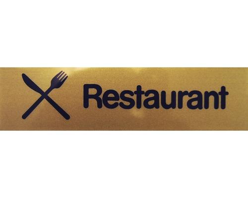 """Hinweisschild """"Restaurant"""" Kunststoff 160 x 40 mm"""