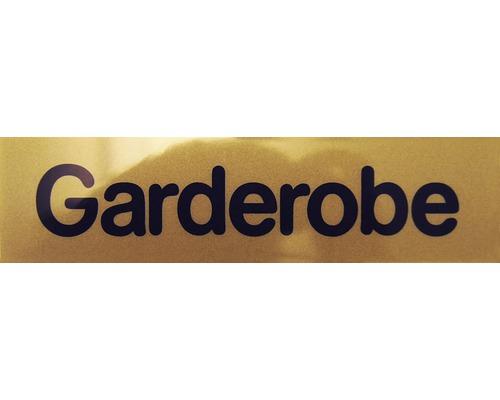 """Hinweisschild """"Garderobe"""" Kunststoff 160 x 40 mm"""