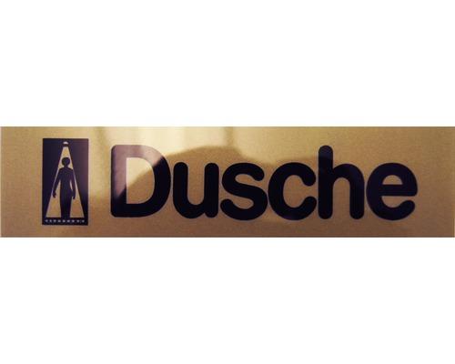 """Hinweisschild """"Dusche"""" Kunststoff 160 x 40 mm"""