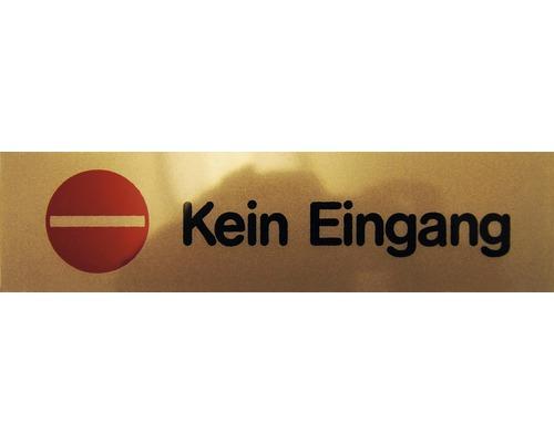 """Hinweisschild """"Kein Eingang"""" Kunststoff 160 x 40 mm"""