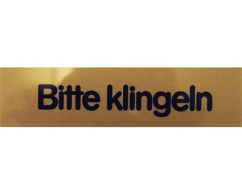 """Hinweisschild """"Bitte Klingeln"""" Kunststoff 80 x 20 mm"""