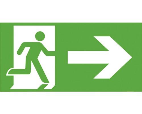 Notausgangsschild rechts Kunststoff Grün/Weiß 300 x 150 mm