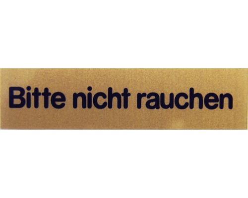 """Hinweisschild """"Bitte nicht Rauchen"""" Kunststoff 80 x 20 mm"""