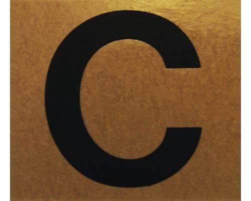 """Klebeziffer """"Buchstabe C"""" Papier 50 x 50 mm"""