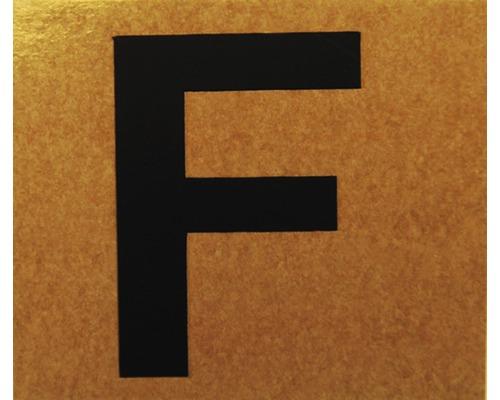 """Klebeziffer """"Buchstabe F"""" Papier 50 x 50 mm"""