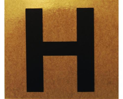 """Klebeziffer """"Buchstabe H"""" Papier 50 x 50 mm"""