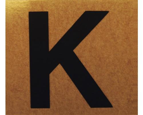 """Klebeziffer """"Buchstabe K"""" Papier 50 x 50 mm"""