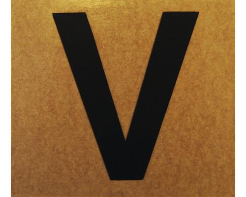 """Klebeziffer """"Buchstabe V"""" Papier 50 x 50 mm"""