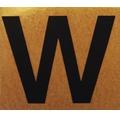 """Klebeziffer """"Buchstabe W"""" Papier 50 x 50 mm"""