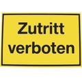 "Warnschild ""Zutritt verboten"" Kunststoff 200 x 300 mm"
