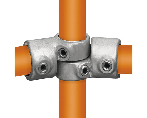 Winkelgelenk Rohrverbinder für Gerüstholz-Stahlrohr verstellbar Ø 33 mm
