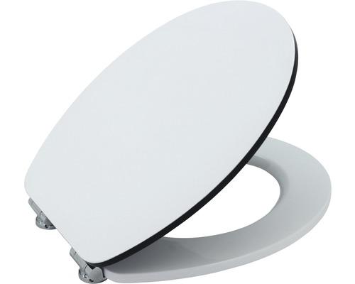WC-Sitz Form & Style Edge weiß/schwarz mit Absenkautomatik