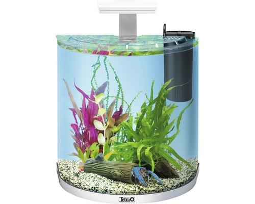 Aquarium Tetra ExplorerLine 30 l mit LED-Beleuchtung, Futter, Filter, Wasseraufbereiter ohne Unterschrank weiß