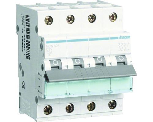Leitungsschutzschalter C+N 25A 3-polig Hager MCN 625