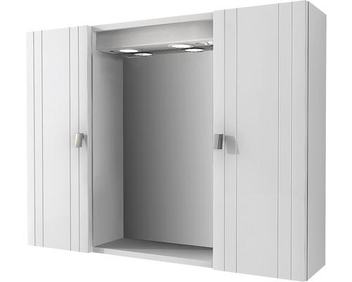 Spiegelschrank Baden Haus Rimini 80x60x17 cm 2-türig weiß