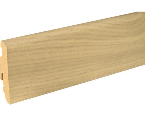 Sockelleiste furniert SU60L Eiche weiß 262 19x58x2400 mm