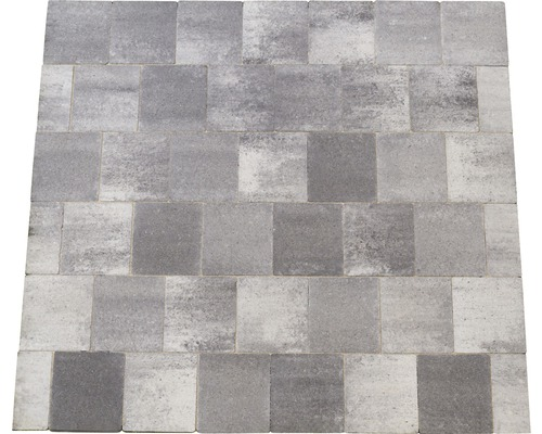 Flairstone Beton Pflaster natur grau 15,4 x 17,3 cm