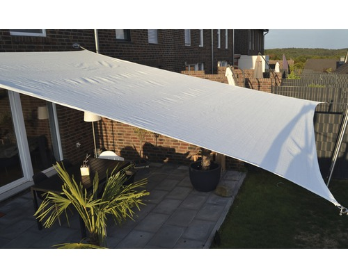 Sonnensegel Rechteck cremeweiß 400x500 cm
