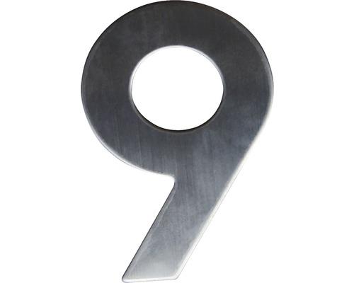 Hausnummer 9 Edelstahl