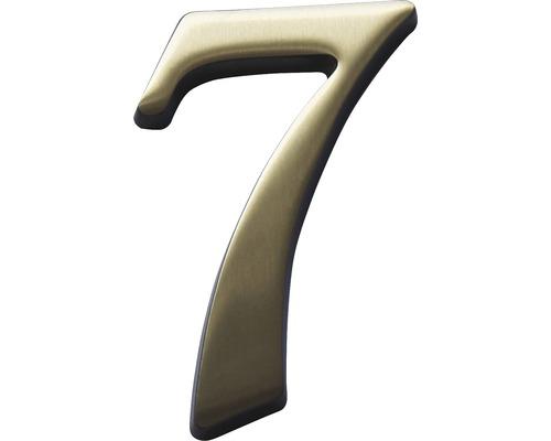 Hausnummer bronze satiniert 7 120 mm