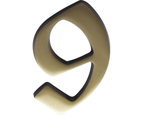 Hausnummer bronze satiniert 9 120 mm