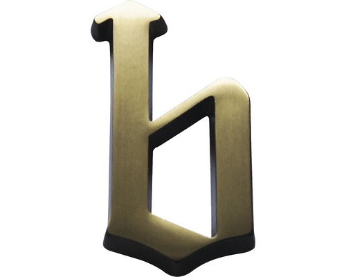 Hausnummer bronze satiniert b 60 mm
