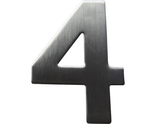 Hausnummer 4 Edelstahl