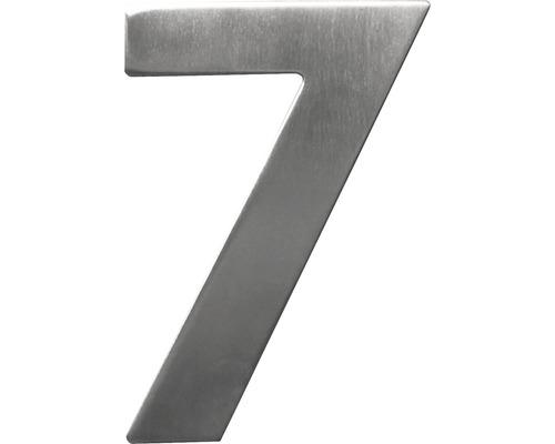 Hausnummer 7 Edelstahl