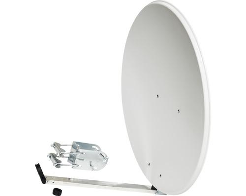 Antenne SAT Spiegel alu weiss