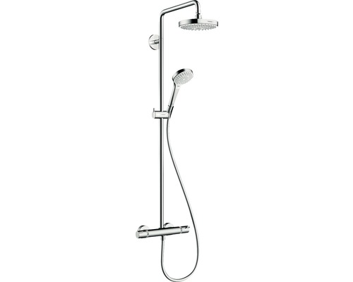 Duschsäule hansgrohe Showerpipe Croma Select S 180 27253400 mit Thermostat weiß/chrom
